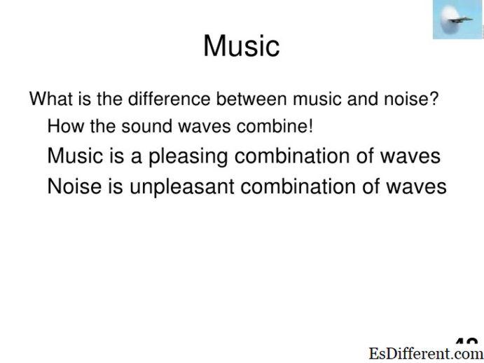 Diferencia entre el ruido y la música